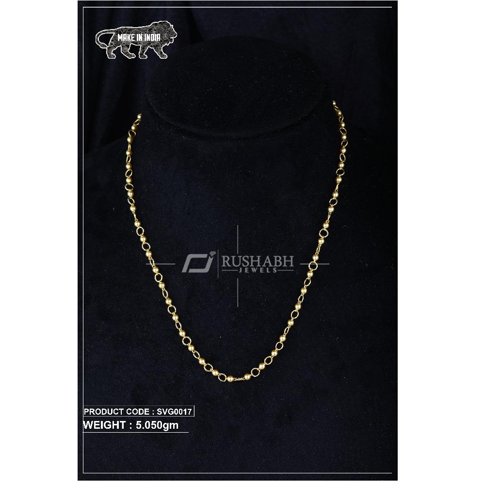 22 Carat 916 Gold Ladies swarovski Moti mala svg0017