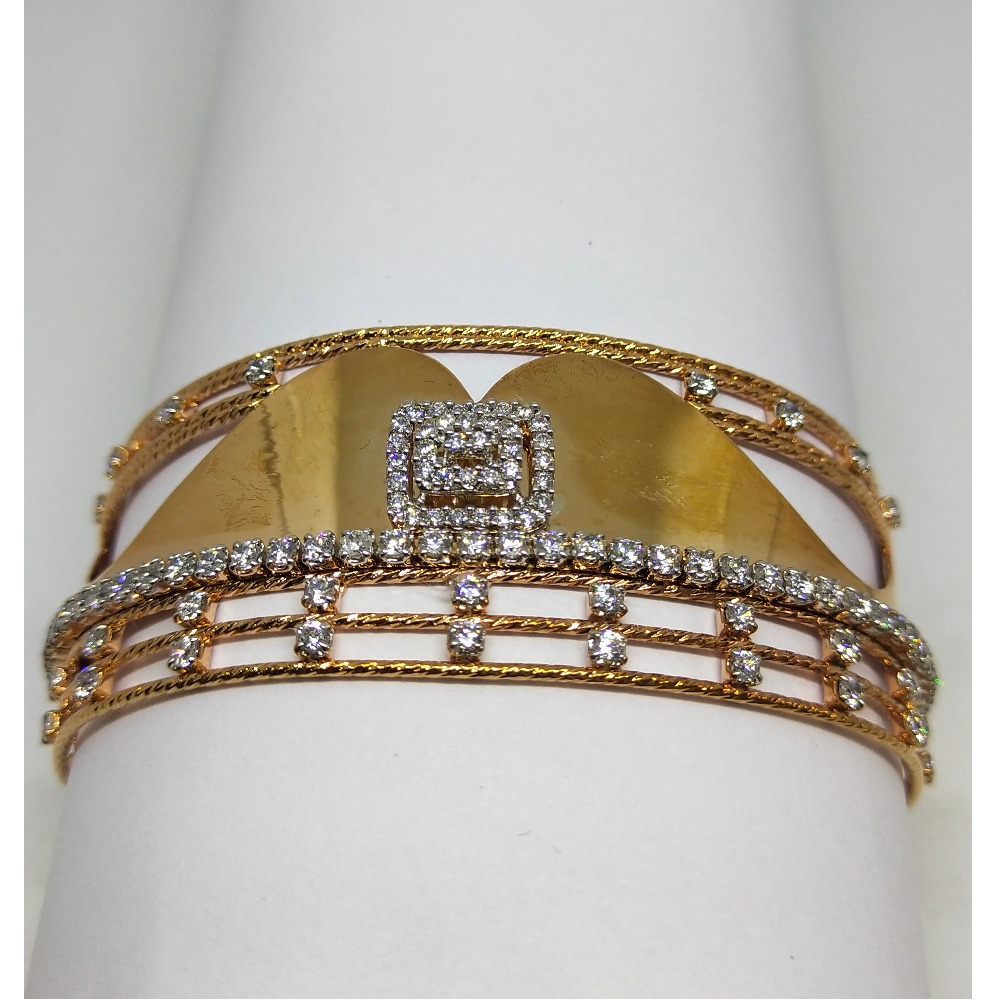 18K rose gold wedding special diamond bracelet