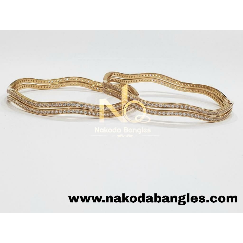 916 Gold CNC Bangles NB - 993