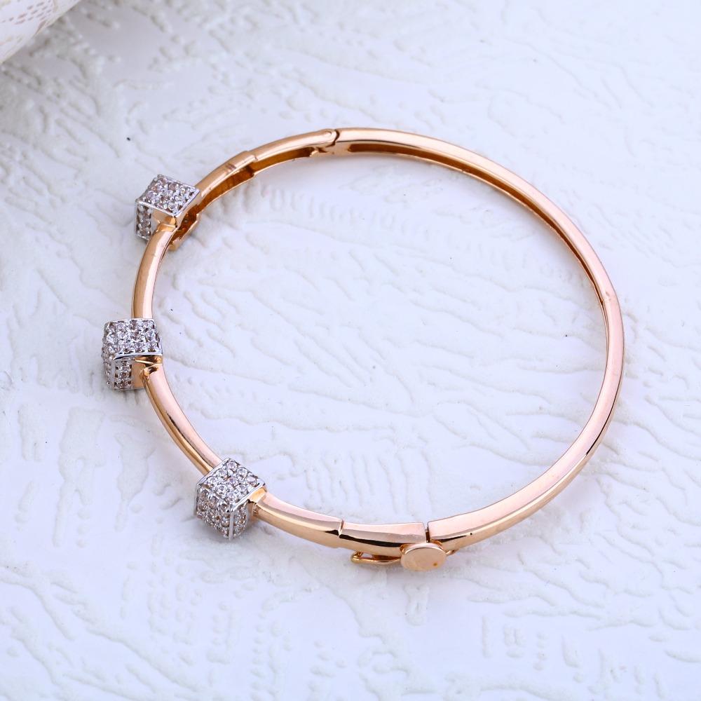 18KT Rose Gold Designer Hallmark Kada Bracelet RLKB189