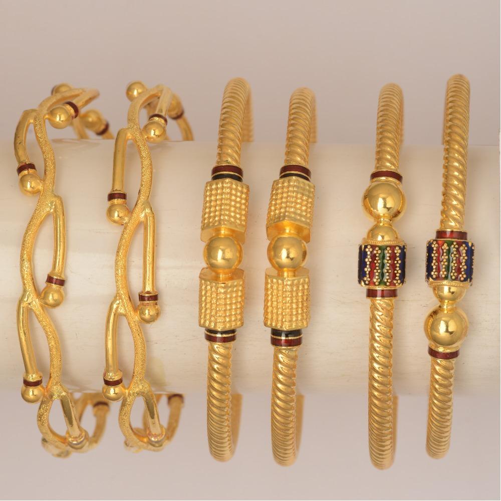 916 Gold Fancy Kadli Bangle