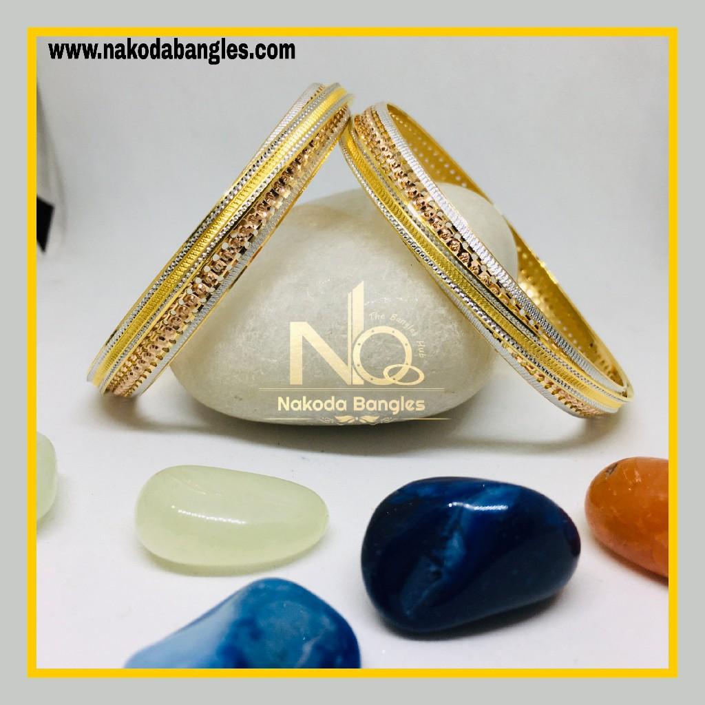 916 Gold CNC Bangles NB - 1283