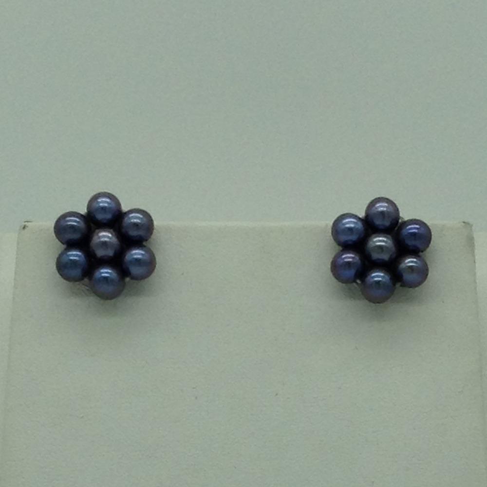 Freshwater Grey Round2Lines PearlsFull Set JPP1045