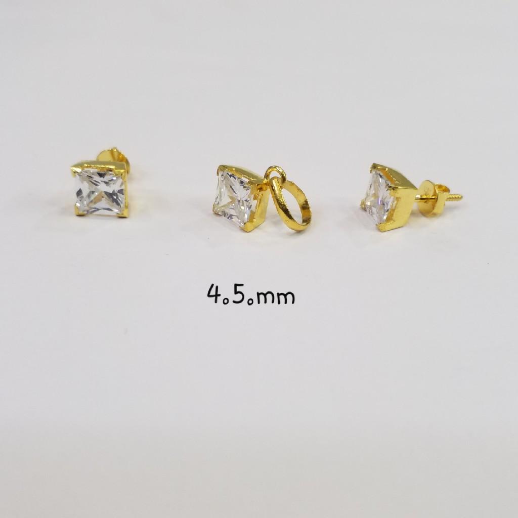 18kt gold c ston butti CM8636
