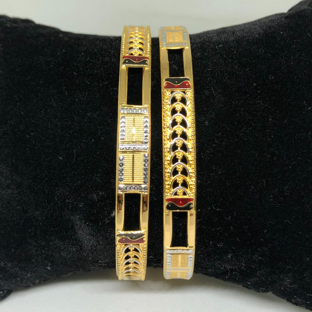 916 Gold Indian Design Copper Kadli Bangle VN-B06