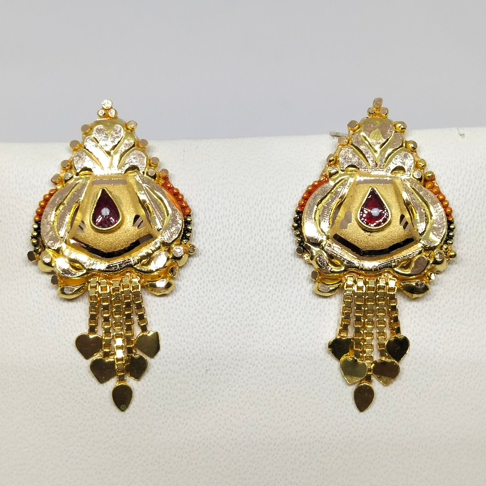 18KT gold attractive earring for women dj-e018