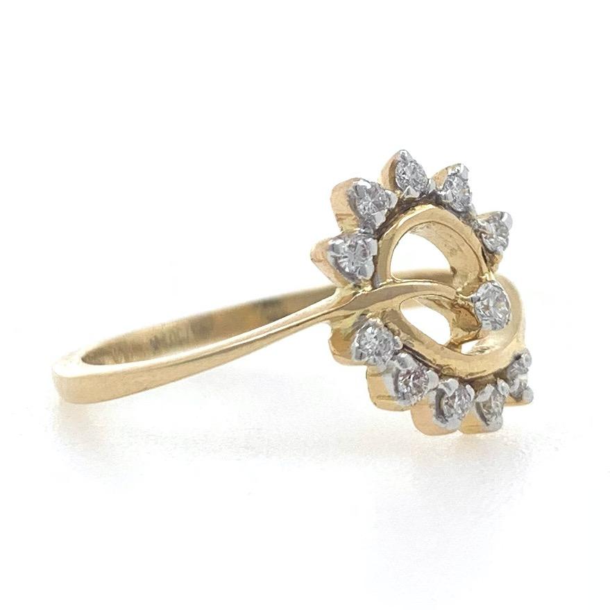 18kt / 750 yellow gold classic everyday wear diamond ladies ring 6lr61