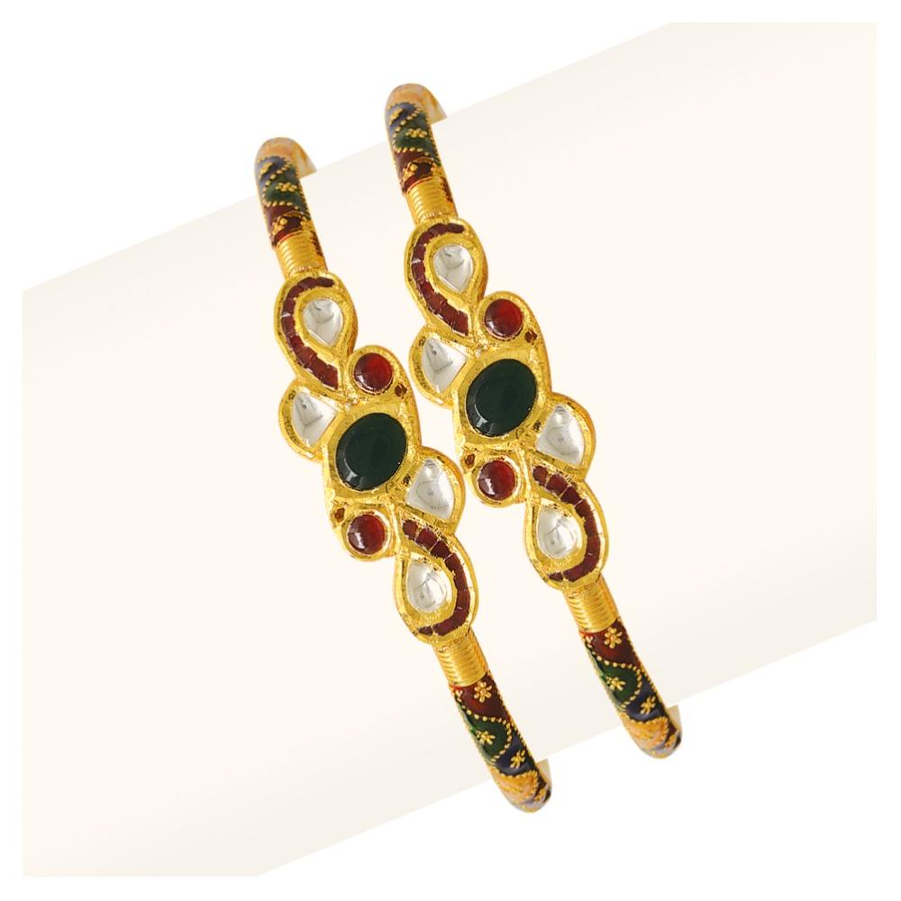 916 Gold Single Pipe Manka Modhiya Copper Kadli RJSP-041