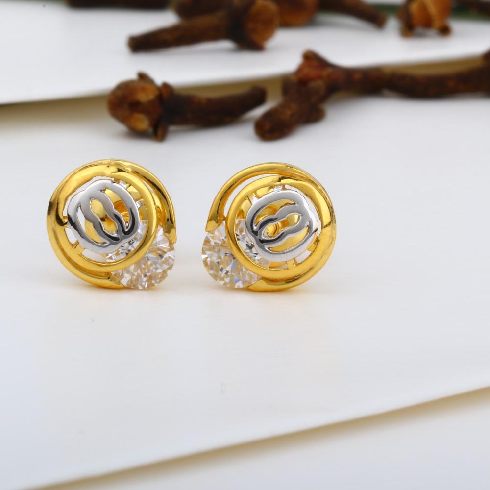 916 Gold Round Shape Swarovski Tops JJ-E017