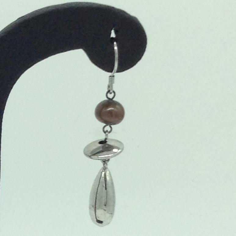 PearlSilverEar HangingsJER0154