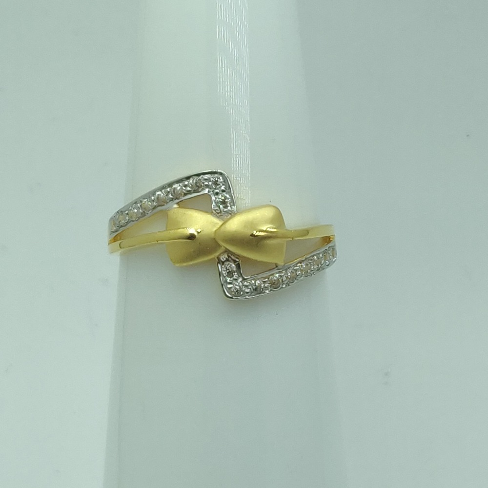 22KT Gold CZ Fancy Engagement Ring SSJ-R007