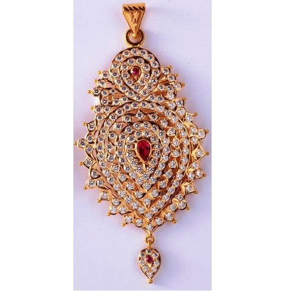 22kt gold cz handmade Light Weight pendant for women mv-p08