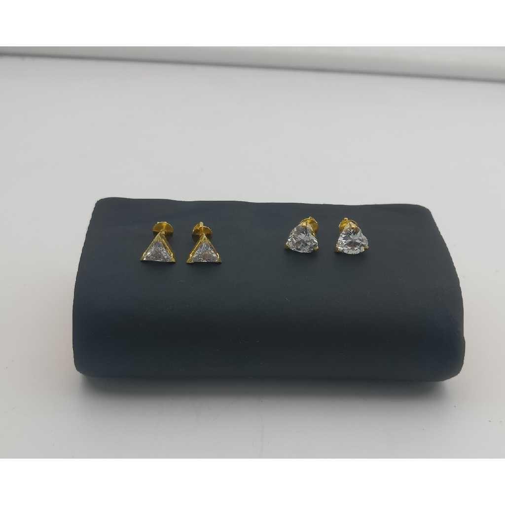 18kt Single Stud CZ Earring
