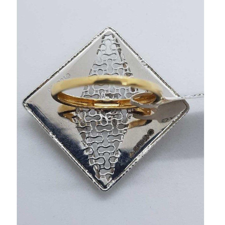 Rose gold squre l ring SJ-760 LR/6