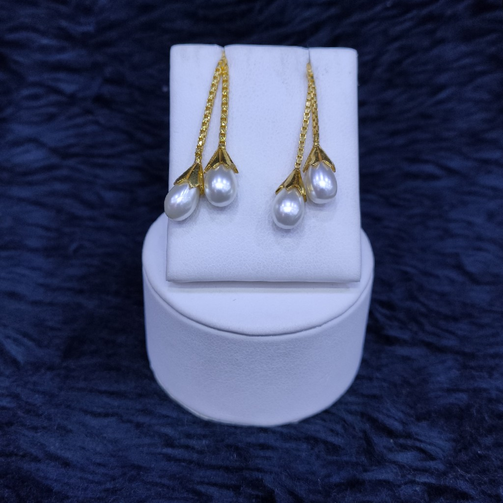 22KT/916 Yellow Gold Fancy Earrings Hanging Ser GLK-2