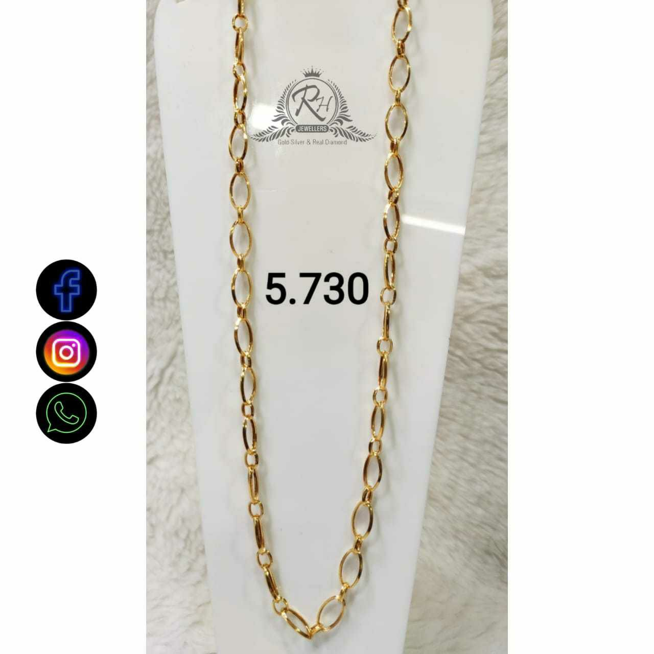 22 Carat gold Classical Gents Chain RH-CH778