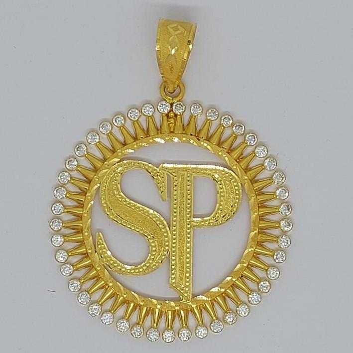 916 Gold Fancy letter Named Pendant