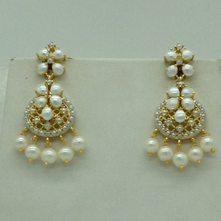 Freshwater White Button Pearls Necklace Set JNC0117