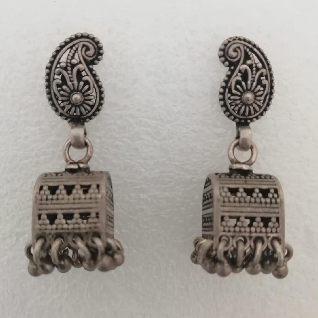 Sterling silver mango design earrings