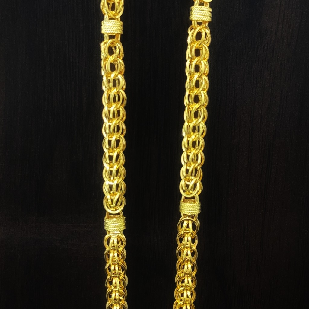 916 gold heavy look chain 20gm