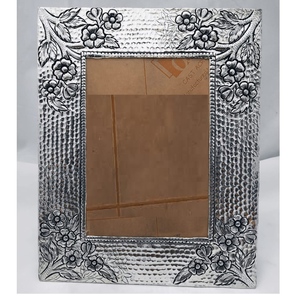 Pure Silver Photo Frame In Antique Nakashii work PO-171-13