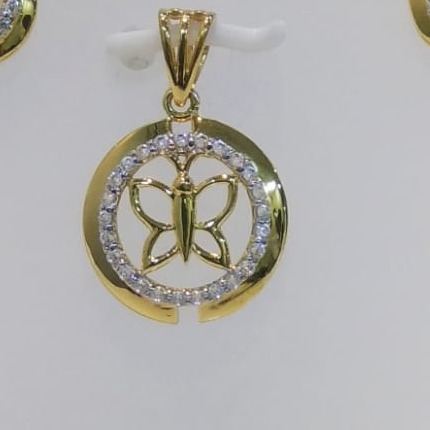 22 ct gold pendent set butterfly design