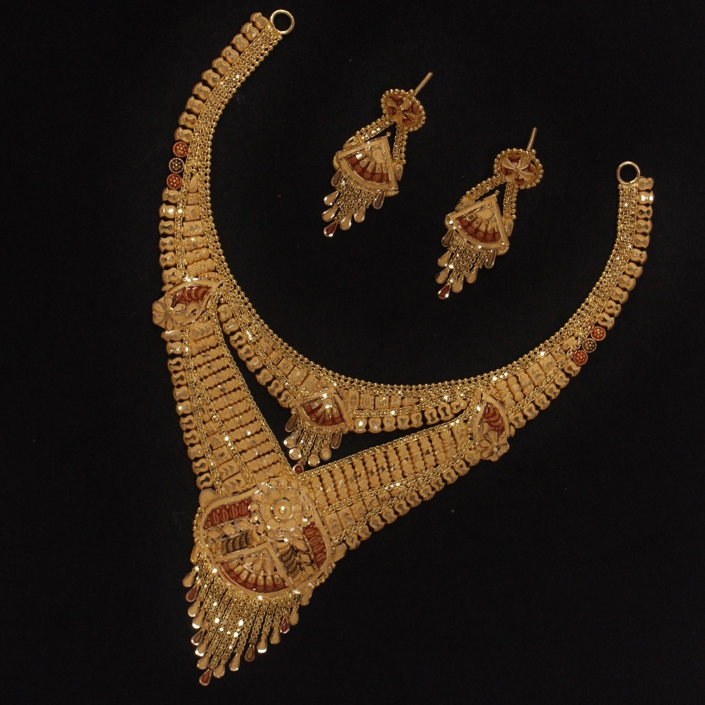 916 Gold Fancy Necklace Set PO-N01