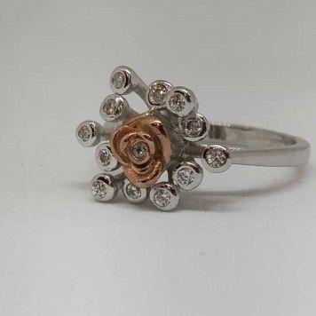 925 Sterling Silver Rose Flower Designer Ladies Ring