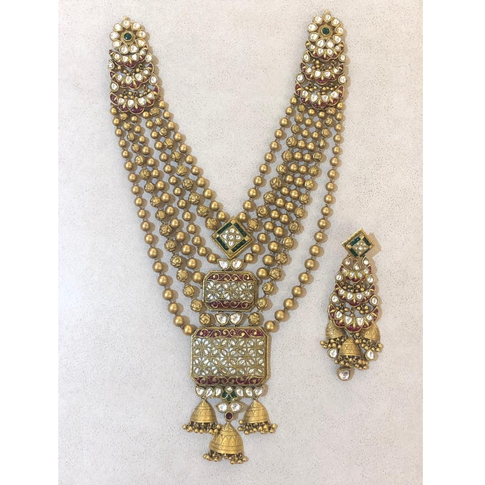 916 Gold Traditional Necklace Set From Rajkot