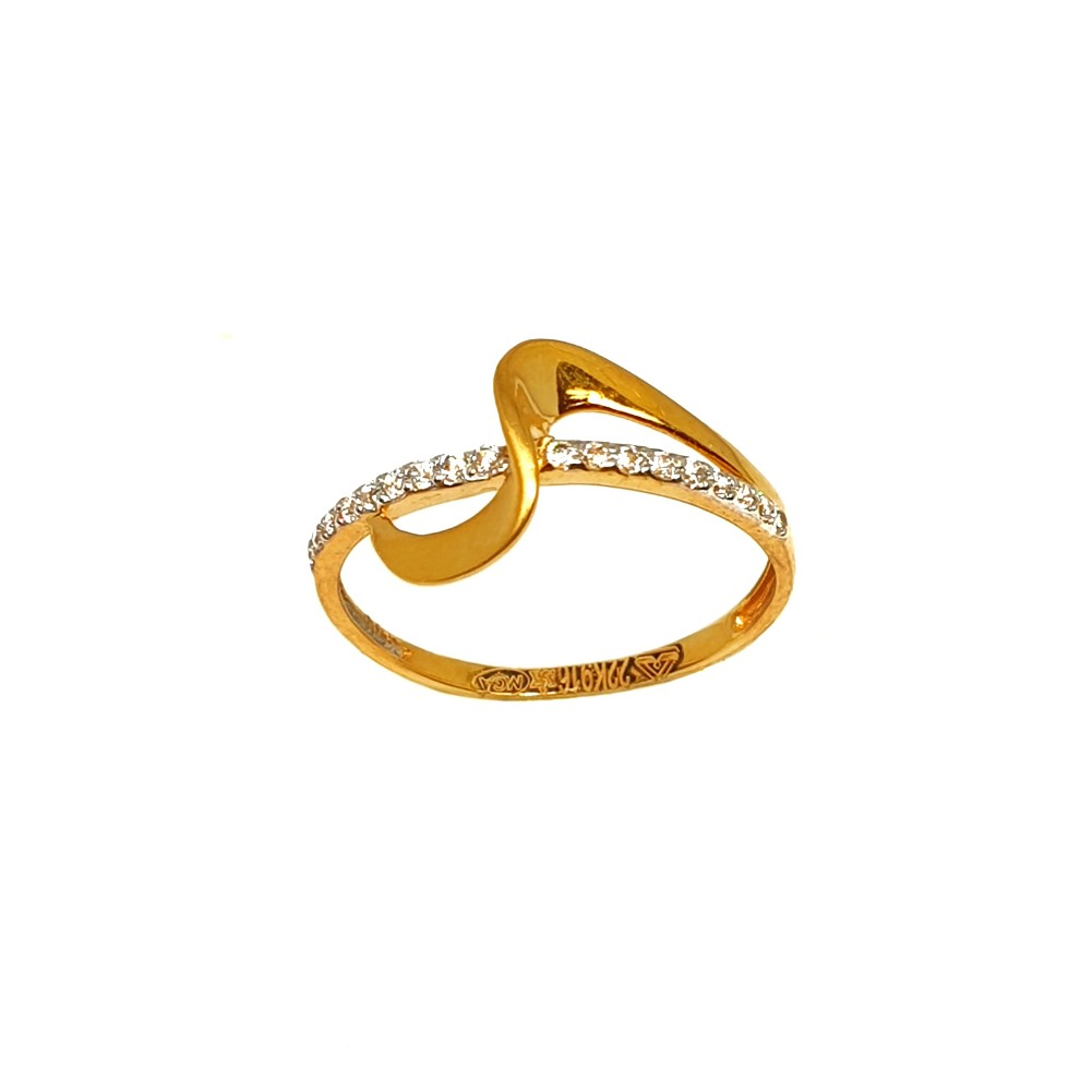22K Gold CZ Diamond Modern Ring MGA - LRG1068