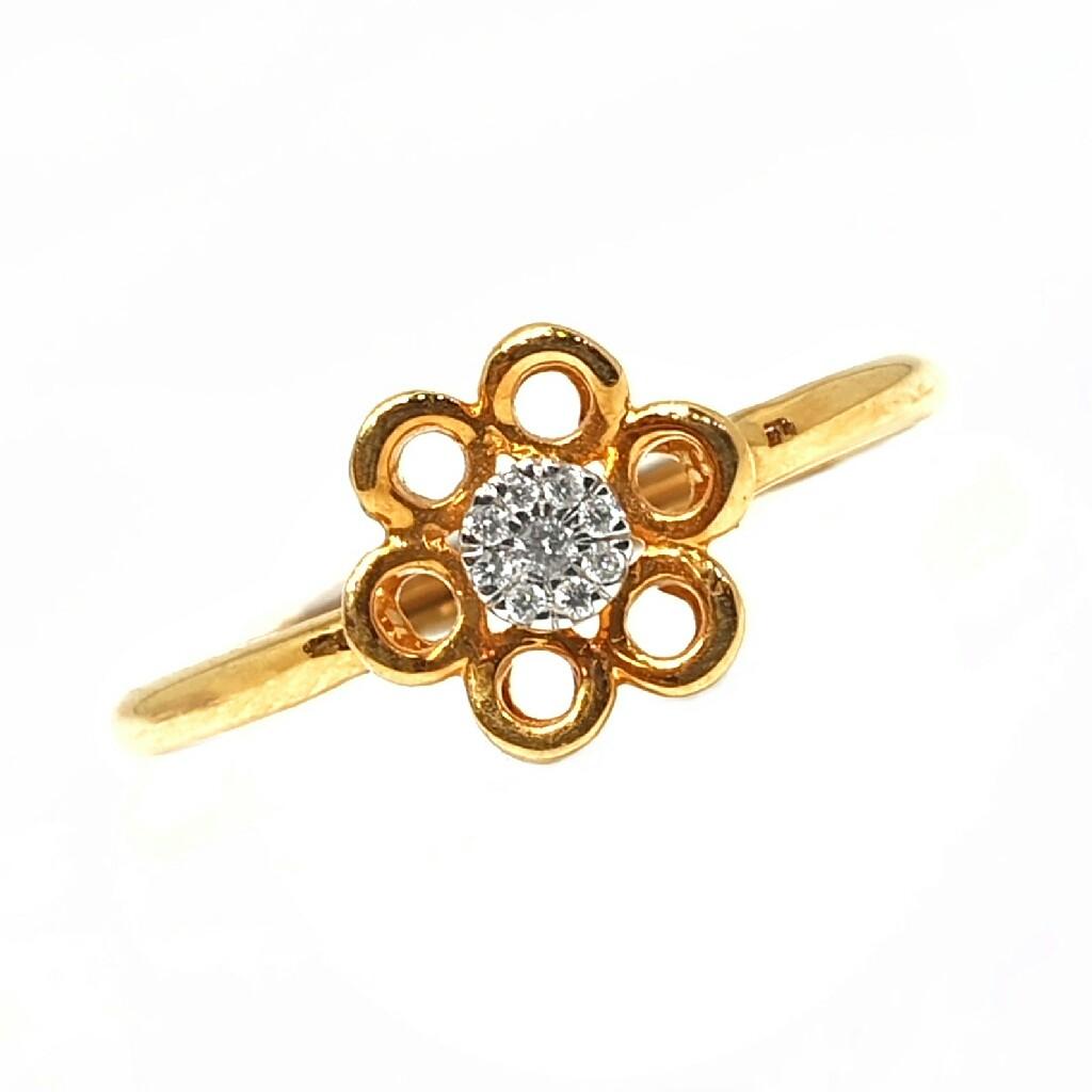 18k gold real diamond ring mga - rdr0022
