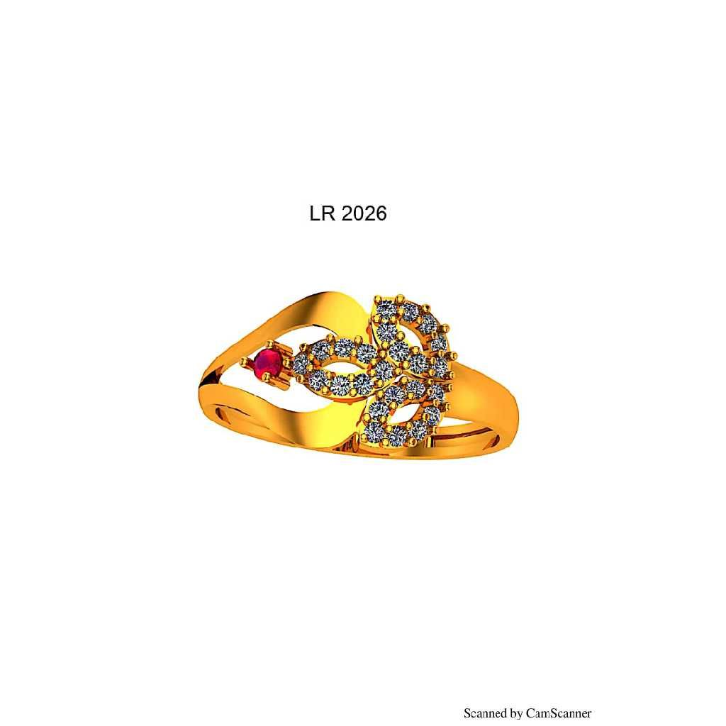 76 Gold Cz Ladies Ring 026
