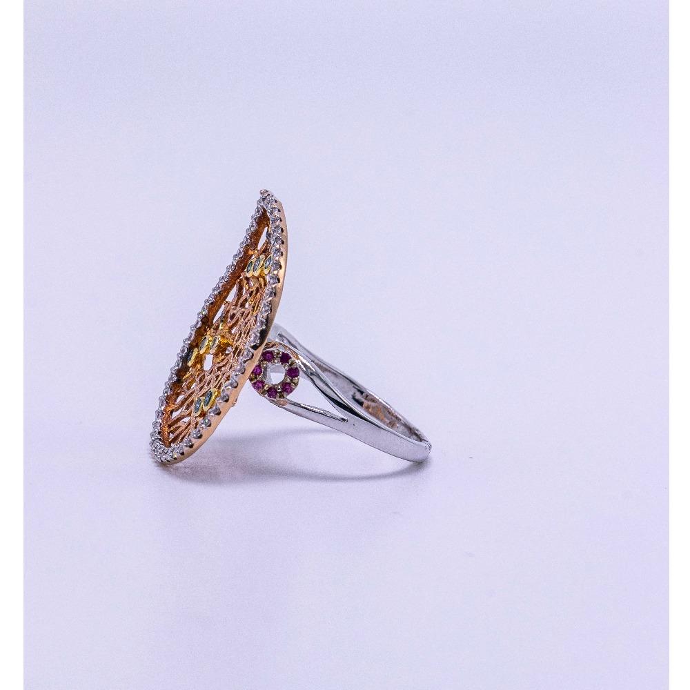 18k rose gold diamond ring agj-lr-168