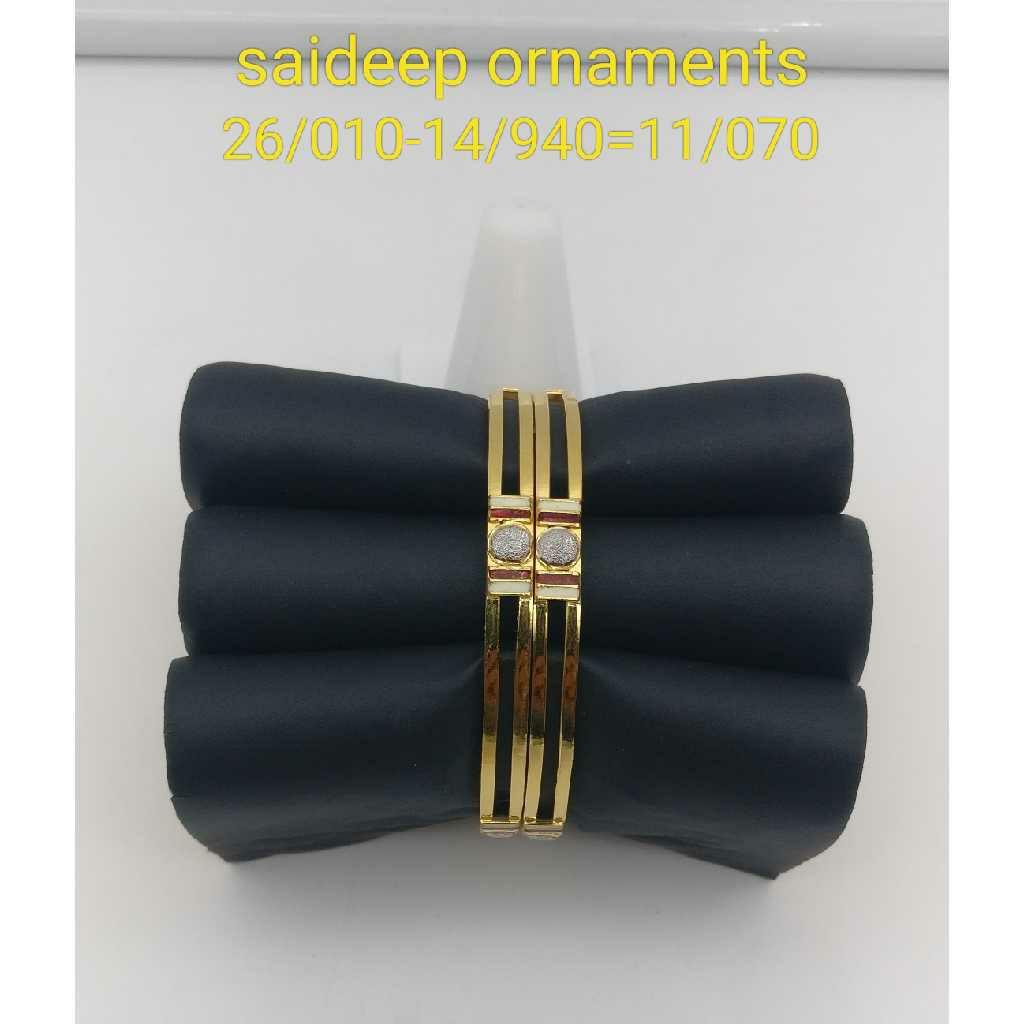 22 Kt 916 Copper Gold Bengle Design
