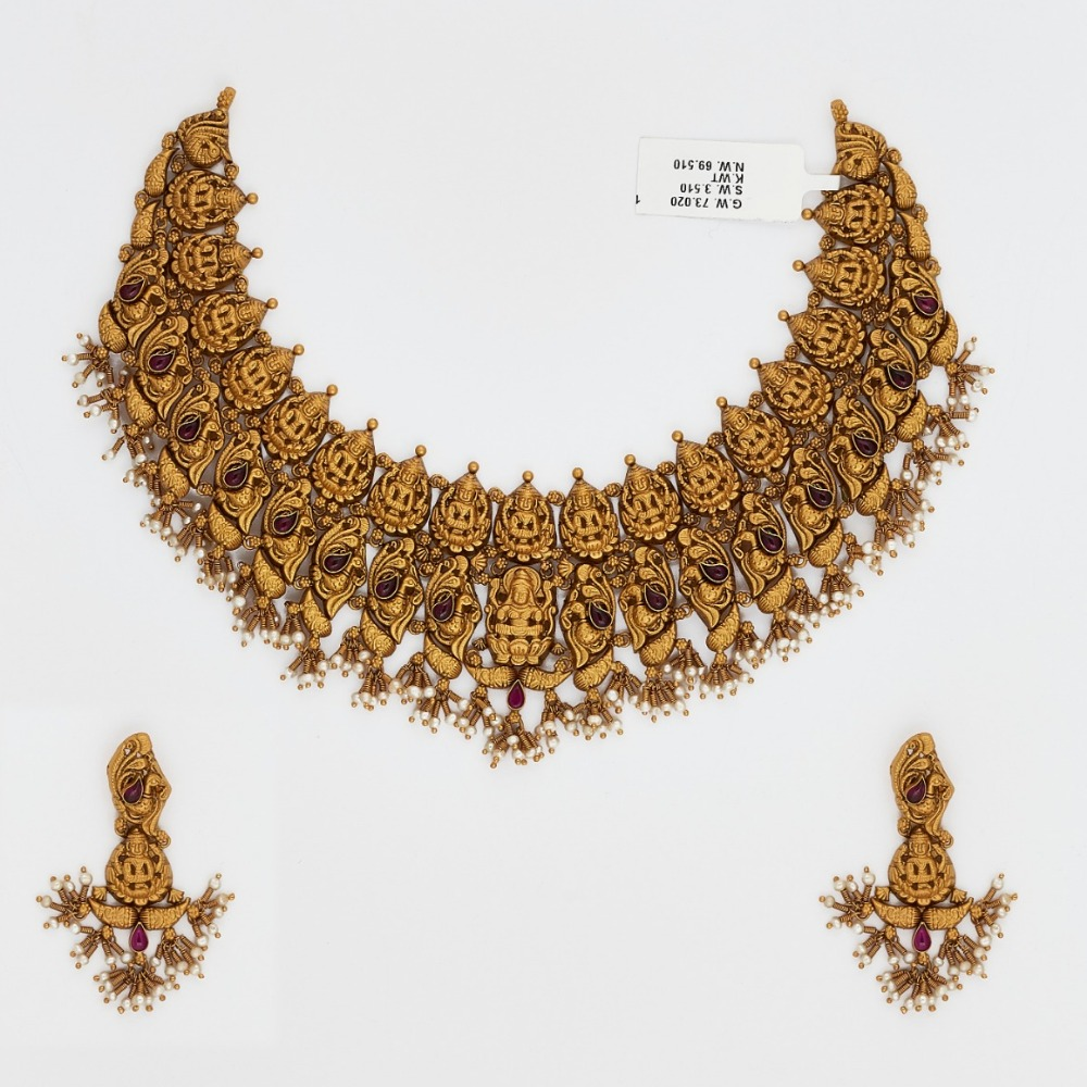 916 Gold Choker Necklace Set SJ-4545