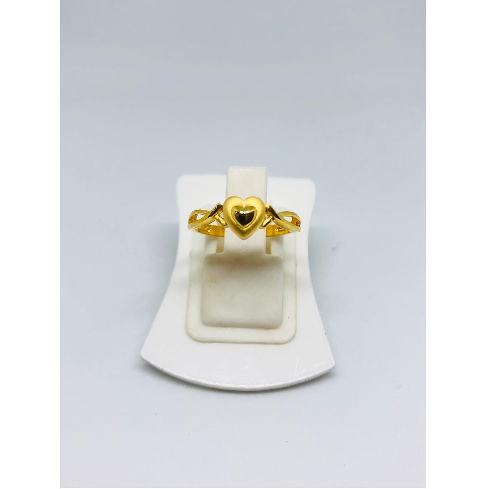 22KT Gold Heart Shape Ring For Women KDJ-R011