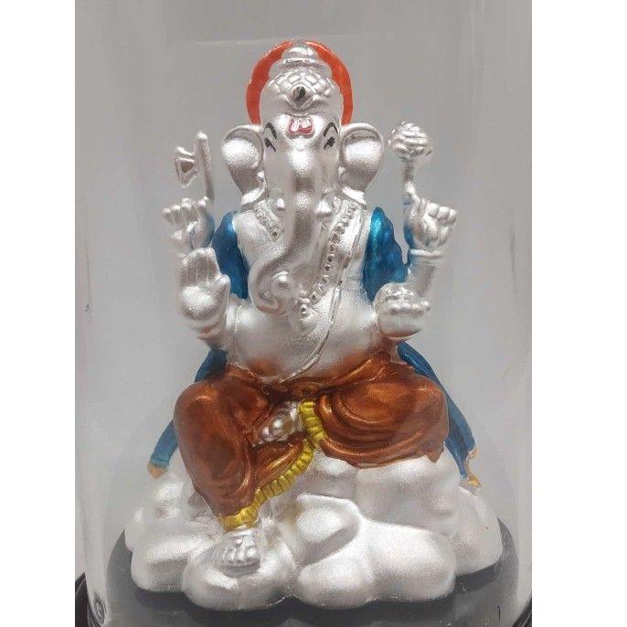 999 pure silver ganesh idols