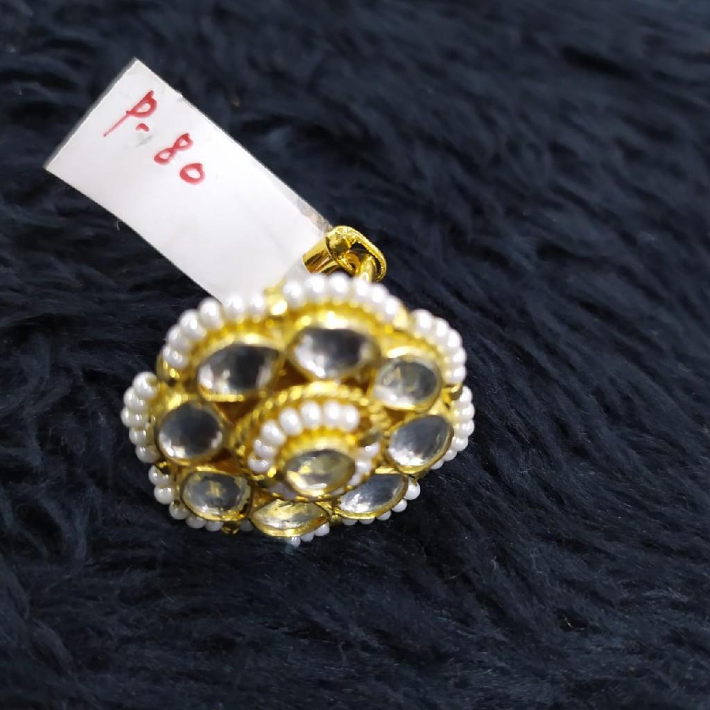 beautiful pachi kundan ring#762