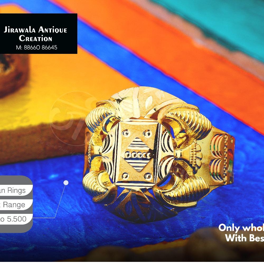 916 Fancy Design Nazaran Gold Ring JAR-006