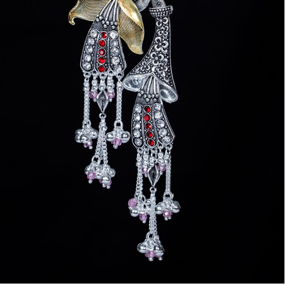 Silver Antique Juda Waist Keychain