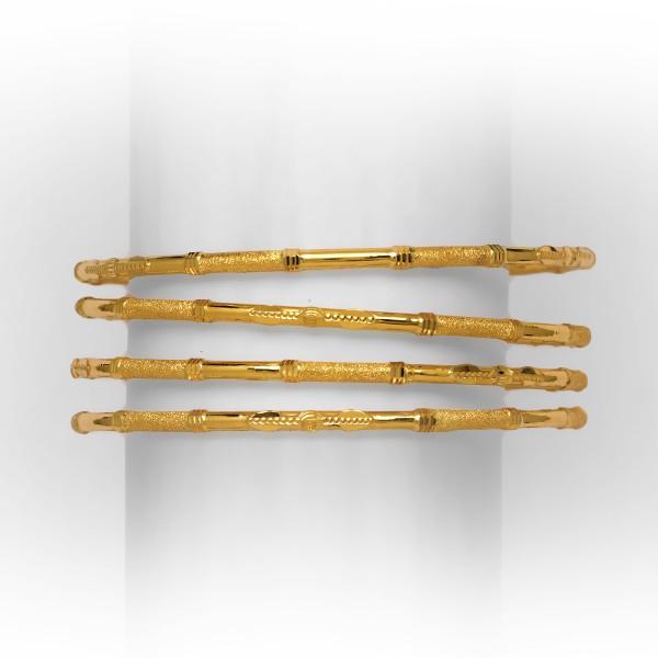 Yellow gold 4 pipe ghabha kadli