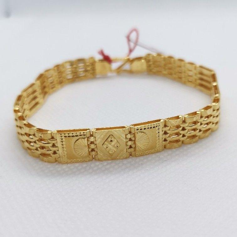 Block Pattern Gents bracelet