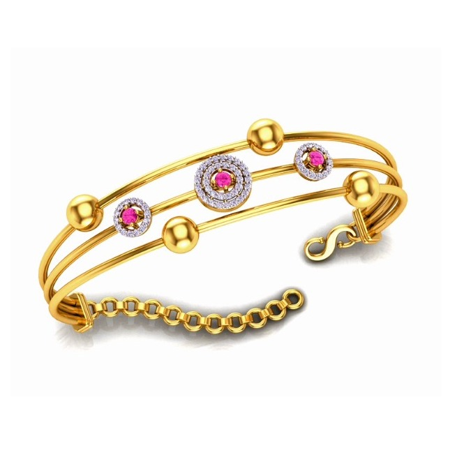 916 Gold CZ Designer Bracelet For Women SO-B009