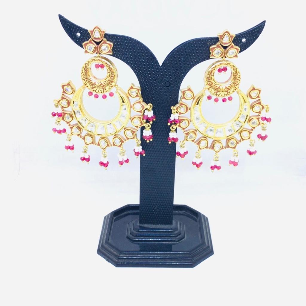 FANCY 1 GRAM GOLD BRANDED EARRINGS