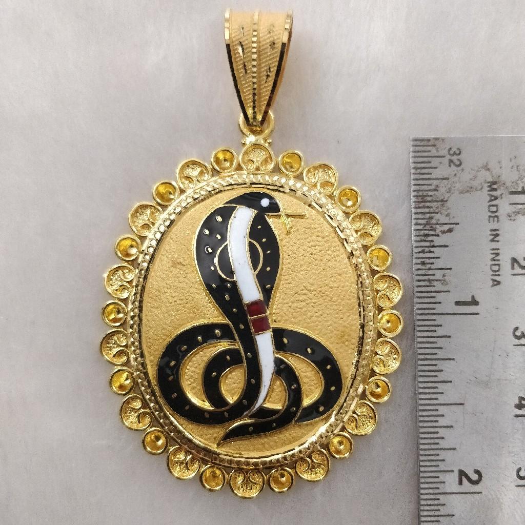 916 Gold Gent's Fancy Goga Maharaj Pendant