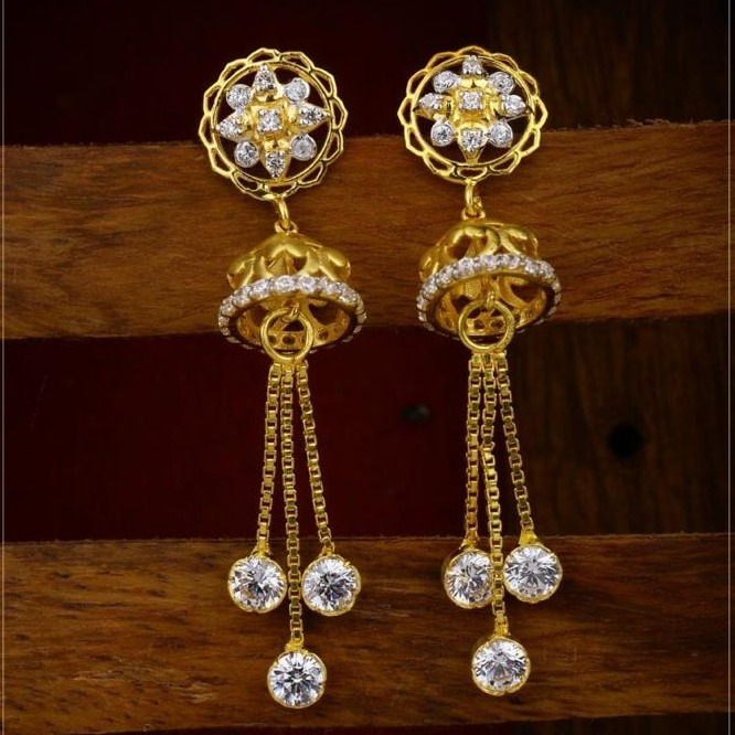 22 ct 916 gold earings with zummer