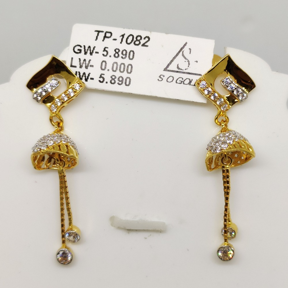 22KT Gold Latkan Earring SOG-E004