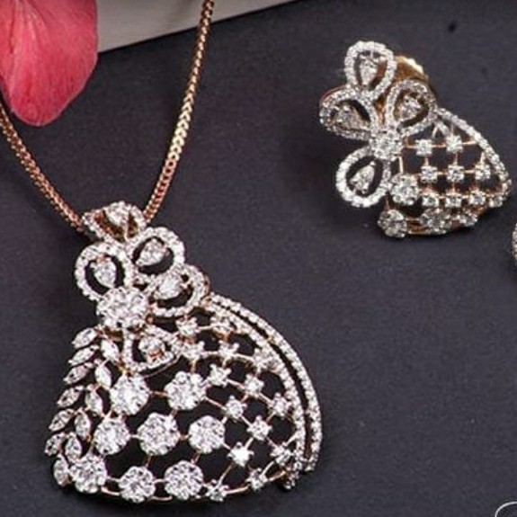 18KT cocktail collection Pendant set for Ladies PBG1003