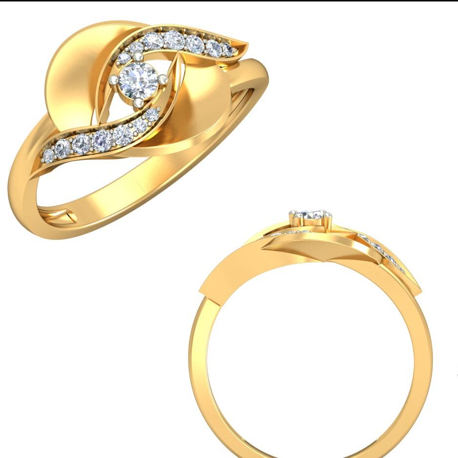22Kt Yellow Gold Bonduca Ring for Women