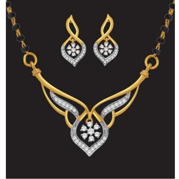 22k gold designer diamond mangalsutra jj-m10